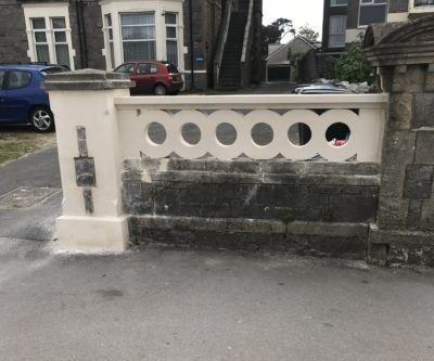 New Stone Gate Pier And Pierced Panel
