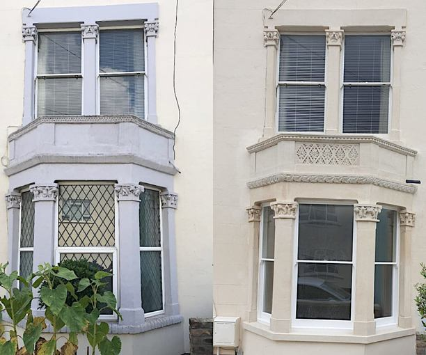 PAINT REMOVAL AND STONE REPLACEMENT